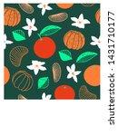 hand drawn botanical... | Shutterstock .eps vector #1431710177