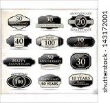 anniversary black labels | Shutterstock .eps vector #143172001