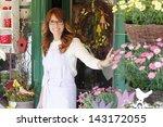 Smiling Mature Woman Florist...
