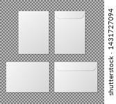 envelope a4. paper white blank... | Shutterstock .eps vector #1431727094