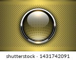 gold metallic background  3d... | Shutterstock .eps vector #1431742091