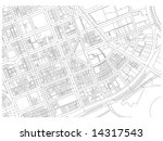 city map autocad drawing black... | Shutterstock . vector #14317543