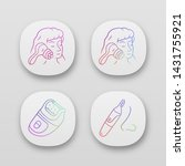 beauty devices app icons set.... | Shutterstock .eps vector #1431755921