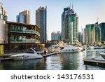 dubai  uae   november 16  yacht ... | Shutterstock . vector #143176531