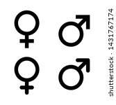 male and female symbol set .... | Shutterstock .eps vector #1431767174