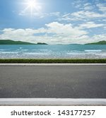 road side beach view  background | Shutterstock . vector #143177257