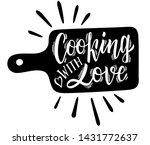 cooking with love. kitchen... | Shutterstock .eps vector #1431772637