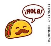 funny cartoon taco character... | Shutterstock . vector #1431783581