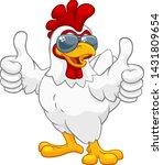 a chicken rooster cockerel bird ... | Shutterstock .eps vector #1431809654