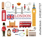 london  england and united... | Shutterstock .eps vector #1431817727