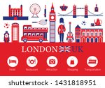 london  england and travel... | Shutterstock .eps vector #1431818951
