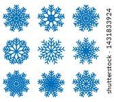 snowflake icons kit. set of... | Shutterstock .eps vector #1431833924