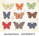 set of butterflies for design.... | Shutterstock .eps vector #143185471