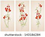 vertical  banner floral... | Shutterstock .eps vector #143186284
