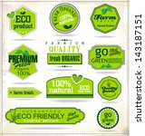 set of organic labels | Shutterstock .eps vector #143187151