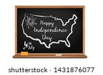happy independence day. chalk... | Shutterstock .eps vector #1431876077