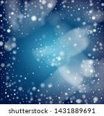 realistic vector snowfall on... | Shutterstock .eps vector #1431889691