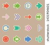 web arrows color sticker vector ...