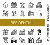 set of residential icons such... | Shutterstock .eps vector #1431920804
