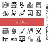 set of score icons such as... | Shutterstock .eps vector #1431920861