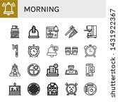 set of morning icons such as... | Shutterstock .eps vector #1431922367