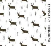 winter seamless pattern. hand... | Shutterstock .eps vector #1431930131