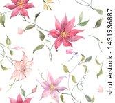 watercolor floral pattern ... | Shutterstock . vector #1431936887