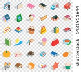nice icons set. isometric style ... | Shutterstock .eps vector #1431951644