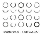 wreaths of ears wheat. design... | Shutterstock .eps vector #1431966227