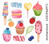 yummy sweet food seamless... | Shutterstock . vector #1431966971