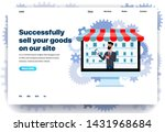 web page flat design template... | Shutterstock .eps vector #1431968684