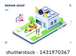 isometric car service with auto ...   Shutterstock .eps vector #1431970367
