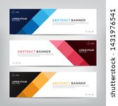 abstract web banner template ... | Shutterstock .eps vector #1431976541