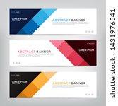 abstract web banner template ...   Shutterstock .eps vector #1431976541
