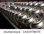 Aerosol Cans On Production Lin...