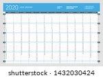 wall calendar yearly planner... | Shutterstock .eps vector #1432030424