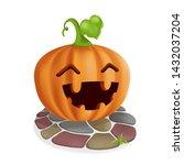 pumpkin and tile floors. jack o'...   Shutterstock .eps vector #1432037204