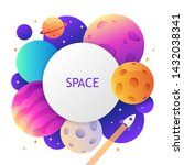 colorful space template for... | Shutterstock .eps vector #1432038341