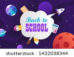 back to school. colorful... | Shutterstock .eps vector #1432038344