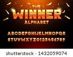 the winner alphabet. vector... | Shutterstock .eps vector #1432059074