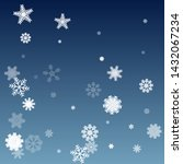 winter pattern with snowflakes. ... | Shutterstock .eps vector #1432067234