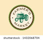 farmer's market hand drawn logo ... | Shutterstock .eps vector #1432068704