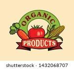 organic product hand drawn logo ... | Shutterstock .eps vector #1432068707