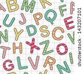 english alphabet on paper as... | Shutterstock .eps vector #143207101