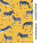 zebra habitat yellow and black... | Shutterstock .eps vector #1432074944