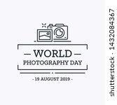 world photography day design... | Shutterstock .eps vector #1432084367