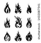 fire flames icons vector set.... | Shutterstock .eps vector #1432087541