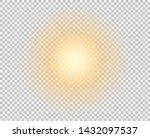 the yellow sun  a flash  a soft ... | Shutterstock .eps vector #1432097537