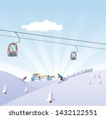 winter time  flat style... | Shutterstock .eps vector #1432122551
