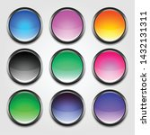 shiny colorful empty buttons set | Shutterstock .eps vector #1432131311
